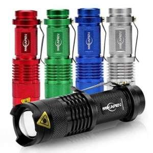 5 paquets Mini Lampe de Poche Puissant 300 LM Zoomable d'intensité réglable avec trios choix de niveau de Luminosité de la marque MIKAFEN image 0 produit