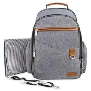 Aisawate Bébé sac à couches Sac à dos avec poches isolées de sangles et de l'évolution des Pad-Gray Poussette de la marque Aisawate image 0 produit
