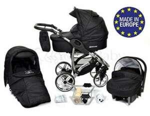 ALLIVIO - Landau pour bébé + Siège Auto - Poussette - Système 3en1, incluant sac à langer et protection pluie et moustique (Système 3en1, noir) de la marque Baby Sportive image 0 produit