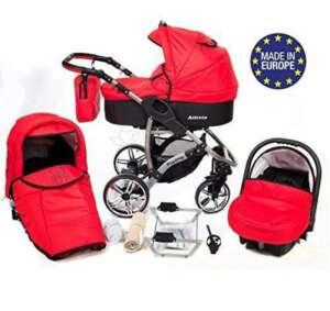 ALLIVIO - Landau pour bébé + Siège Auto - Poussette - Système 3en1, incluant sac à langer et protection pluie et moustique (Système 3en1, rouge) de la marque Baby Sportive image 0 produit