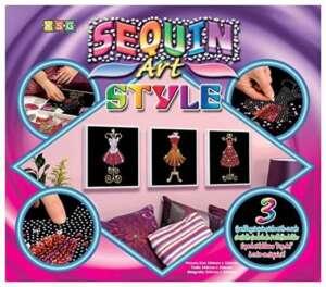 Art Sequin KAD1203 - Peinture Au Numéro - Motif Trio Mannequins - 25 x 25 Cm - Sequin Style - Coloris Aléatoire de la marque Art Sequin image 0 produit