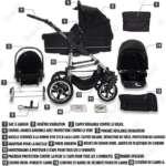 Bebebi | Modèle London | ISOFIX base & siège d auto | 3 en 1 poussette Set | roue en gomme dur de la marque Bebebi image 6 produit