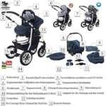 bebebi | modèle bellami | Isofix Base & siège auto–Poussette combi 3en 1–Pneus | couleur: de la marque Bebebi image 2 produit
