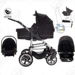 Bebebi | Modèle London | ISOFIX base & siège d auto | 3 en 1 poussette Set | roue en gomme dur de la marque Bebebi image 0 produit