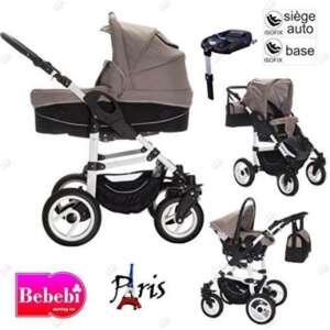 Bebebi | Modèle Paris | 3 en 1 poussette combiné Set | ISOFIX base & siège d auto | Couleur: de la marque Bebebi image 0 produit