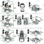 Bebebi | Modèle Paris | 3 en 1 poussette combiné Set | ISOFIX base & siège d auto | Couleur: de la marque Bebebi image 3 produit