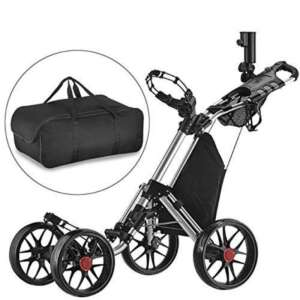 Caddytek seul Clic pliante 4roues Version 3Golf Push Cart-dark Gris avec sac de rangement de la marque Caddytek image 0 produit