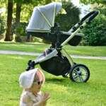Chariot poussette Hot Mom 2018 combine avec nacelle et siège enfant 889, gris de la marque Hot Mom image 1 produit