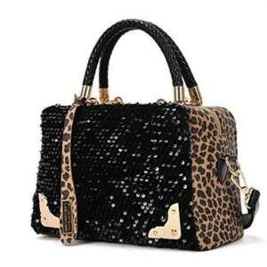 Culater® Femmes Sequin Chic Leopard Messenger Croix sac à main Sac à main de la marque Culater® image 0 produit