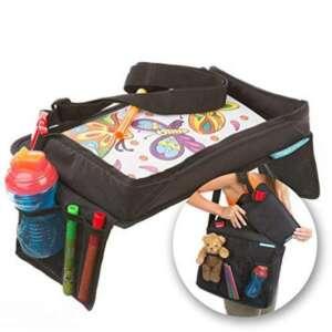 ENFANTS de voyage Plateau et sac de transport Ensemble par Supa-dupa. Parfait pour les activités de voyage pour Stressant enfants dans la voiture, avion ou poussette. Convient pour la plupart des enfants et Carseats pour bébé (Bonus Sac de transport) de l image 0 produit