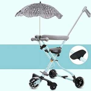 Enfants Tricycle Chariot Lumière Pliage à Cinq Roues Bébé Poupée Artefact GAOLILI (Couleur : Bleu) de la marque Poussette bébé image 0 produit