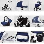 Hogartrend Milano Poussette pour bébé en 3pièces avec châssis en aluminium Couleur 4 de la marque hogartrend image 2 produit