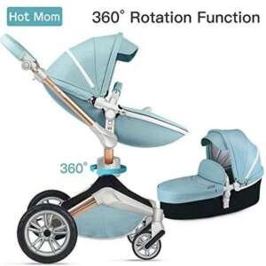 Hot Mom Fonction Poussette combinée 3 en 1 avec poussette et nacelle 2018 Nouveau design de la marque Hot-Mom image 0 produit