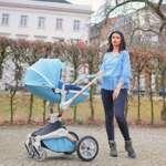 Hot Mom Fonction Poussette combinée 3 en 1 avec poussette et nacelle 2018 Nouveau design de la marque Hot Mom image 1 produit