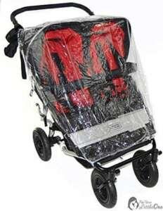 Housse de pluie Compatible avec Maclaren Twin Triumph Poussette double (213) de la marque For-Your-Little-One image 0 produit