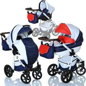 LCP Kids Poussette combinee 3en1 LUCATO eco cuir pour bebe et enfant 0-36 moins pliable avec module canne et siege auto groupe 0+ du 0 a 13 kg - Edition France de la marque LCP Kids® image 0 produit