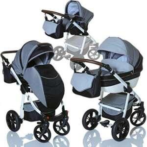 LCP Kids Poussette combinee 3en1 LUCATO eco cuir pour bebe et enfant 0-36 moins pliable avec module canne et siege auto groupe 0+ du 0 a 13 kg - gris TITAN de la marque LCP Kids® image 0 produit