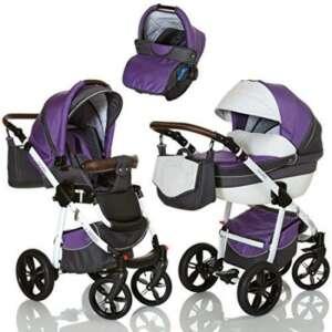 LCP Kids Poussette combinee 3en1 LUCATO eco cuir pour bebe et enfant 0-36 moins pliable avec module canne et siege auto groupe 0+ du 0 a 13 kg - purple violet de la marque LCP Kids® image 0 produit