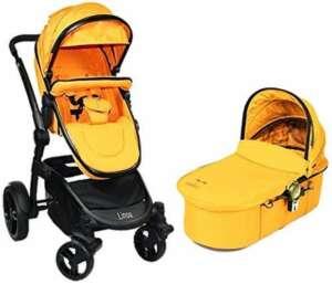 Libelulle Poussette Combinée Pack Duo Linoa avec Nacelle de Promenade Coloris Mandarina Orange (0/3 Ans) de la marque Libelulle image 0 produit