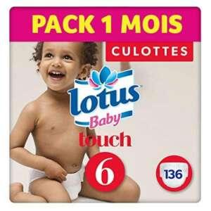 Lotus Baby Touch - Couche Culotte Taille 6 (16-26 kg) Pack 1 mois (136 couches Culottes) de la marque lotus-Baby image 0 produit