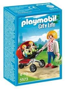 Playmobil 5573 - Jeu De Construction - Maman Avec Jumeaux Avec Landau de la marque Playmobil image 0 produit