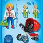 Playmobil 5573 - Jeu De Construction - Maman Avec Jumeaux Avec Landau de la marque Playmobil image 1 produit