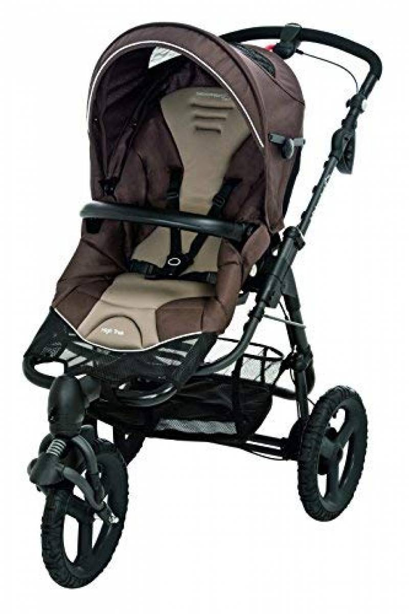 YBL pas cher 4 roues reversible enfant poussette combin/é 2 en 1 inclinable landeau bebe tout terrain