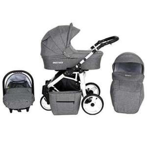 Poussette bébé trio 3en1 combinée trio ROTAX White Edition - Nacelle et siège-auto Gr.0 de la marque Kunert image 0 produit