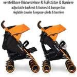 Poussette Canne Double de Bebe - pliable - habillage pluie - dossier réglable - chassis legere de la marque LCP Kids® image 4 produit