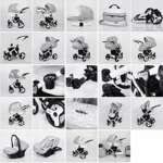 Poussette combinée 3 en 1 trio siège auto nacelle poussette promenade + ombrelle offerte plusieurs couleurs au choix (Gris foncé) de la marque Lavado image 1 produit