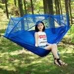 Randonnée Hamac, Miya Hamac portable léger jardin extérieur moustiquaire Accrocher BED Voyage Camping swing survie Accrocher tapis parachute - A08 de la marque Miya System Ltd image 3 produit