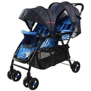 SI YU Haute paysage bébé poussette twin Tandem pliable Landau très facile Portable pliant voiture parapluie infantile (Couleur : Bleu) de la marque SI YU image 0 produit