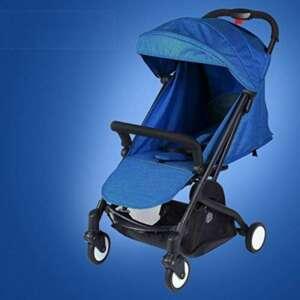 SI YU Plier le chariot de bébé portable peut s'asseoir et se reposer quatre roues rondes de chariot léger de suspension durable pour 0-36 mois (Couleur : Bleu) de la marque SI YU image 0 produit