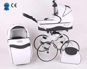 Solenzo - Poussette combinée 3 en 1 rétro - grandes roues - nacelle et siège cosy auto - ombrelle offerte de la marque Solenzo image 0 produit