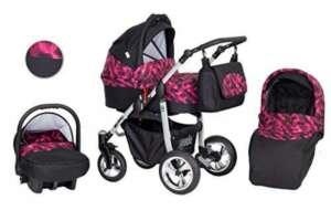 Solenzo- Poussette naissance combinée 3 en 1 - avec siège auto + ombrelle offerte de la marque Solenzo image 0 produit