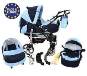 Sportive X2 - Landau pour bébé + Siège Auto - Poussette - Système 3en1 + Accessoires (Système 3en1, bleu marine, bleu) de la marque Baby Sportive image 0 produit