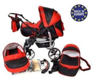 Sportive X2 - Landau pour bébé + Siège Auto - Poussette - Système 3en1 + Accessoires (Système 3en1, noir, rouge) de la marque Baby Sportive image 0 produit