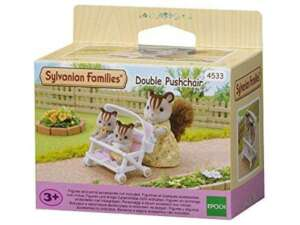 Sylvanian Families -4533 - Poussette Double - Poupées et Accessoires de la marque Sylvanian image 0 produit