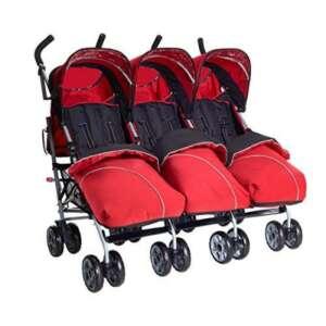 Triple Rouge avec 3footmuffs Triplet Poussette Poussette Tandem de la marque Kids Kargo image 0 produit