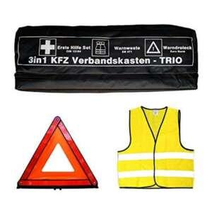 Tuningmods® VOITURE-trousse de secours 3 en 1 trio poussette avec gilet de signalisation, kit de premiers secours et de signalisation de la marque Tuningmods® image 0 produit