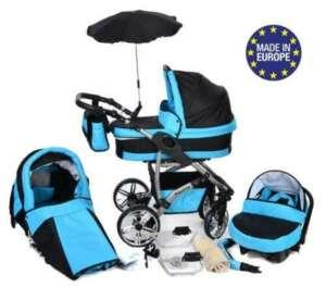 Twing - Landau pour bébé + Siège Auto - Poussette - Système 3en1 + Accessoires (Système 3en1, turquoise) de la marque Baby Sportive image 0 produit