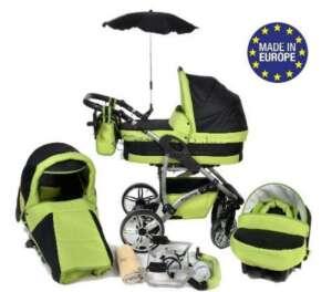 Twing - Landau pour bébé + Siège Auto - Poussette - Système 3en1 + Accessoires (Système 3en1, vert) de la marque Baby Sportive image 0 produit